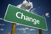 change-roadsign
